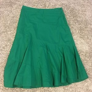 Anthro Edme&Esyllte Solid Green Midi Skirt